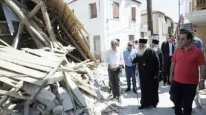 Λέσβος - Βρίσα : Ο Αρχιεπίσκοπος Ιερώνυμος αντίκρισε τη βιβλική καταστροφή Λέσβος - Βρίσα : Ο Αρχιεπίσκοπος Ιερώνυμος αντίκρισε τη βιβλική καταστροφή