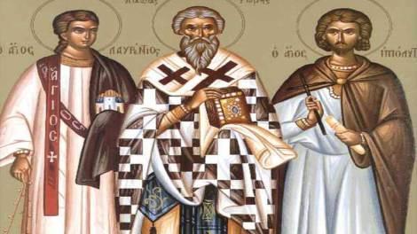 Ορθόδοξος συναξαριστής 10 Αυγούστου, Άγιοι Λαυρέντιος αρχιδιάκονος, Ξύστος πάπας Ρώμης και Ιππόλυτος