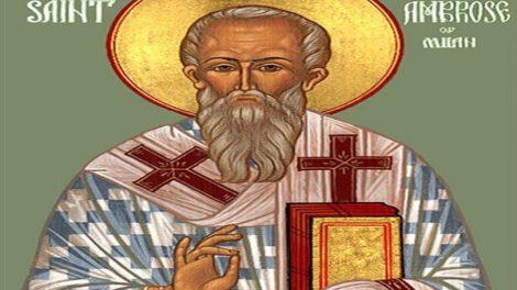 Εορτολόγιο | Άγιος Αμβρόσιος επίσκοπος Μεδιολάνων