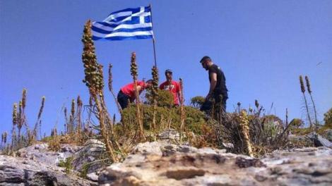 Η ελληνική σημαία αφαιρέθηκε από τη νήσο Μικρός Ανθρωποφάς