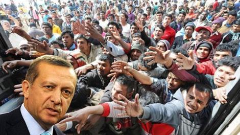 O Eρντογάν εκβιάζει E.E. και Αθήνα με τους μετανάστες