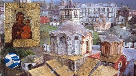 Η Ιερά Μεγίστη Μονή Βατοπαιδίου τιμά την Παναγία Ελαιοβρύτισσα