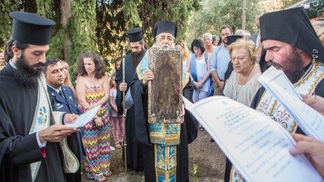 Στον Θρόνο της μετά από 40 χρόνια η Αγία Παρασκευή - Υποδοχή της κλαπείσης Εικόνος στην Ιερά Μονή Σπαρτιάς