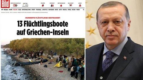 Bild: Παιχνίδια εξουσίας του Ταγίπ Ερντογάν οι νέες προσφυγικές ροές