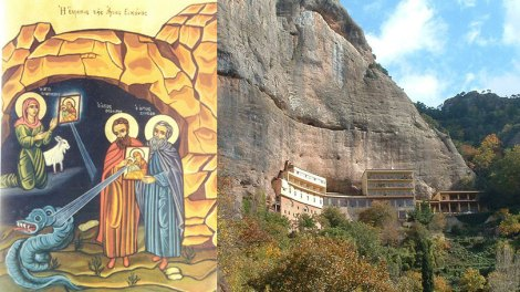 Άγιον Όρος | Όσιοι Συμεών, Θεόδωρος κτήτορες της Ιεράς Μονής του Μεγάλου Σπηλαίου οι θαυματουργοί, Μνήμη 18 Οκτωβρίου