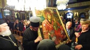 Εκκλησία | Η θαυματουργή εικόνα της Παναγίας της Τιχερούσας - Κουκουζέλισσας επέστρεψε στην Νέα Κίο Αργολίδας