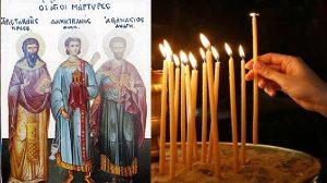 Εορτολόγιο 2020: Τρίτη 23 Ιουνίου Άγιοι Αριστοκλής ο πρεσβύτερος, Δημητριανός διάκονος και Αθανάσιος αναγνώστης