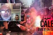 COVID-19: Αίμα, δάκρυα και ξύλο στο Βελιγράδι - ΒΙΝΤΕΟ