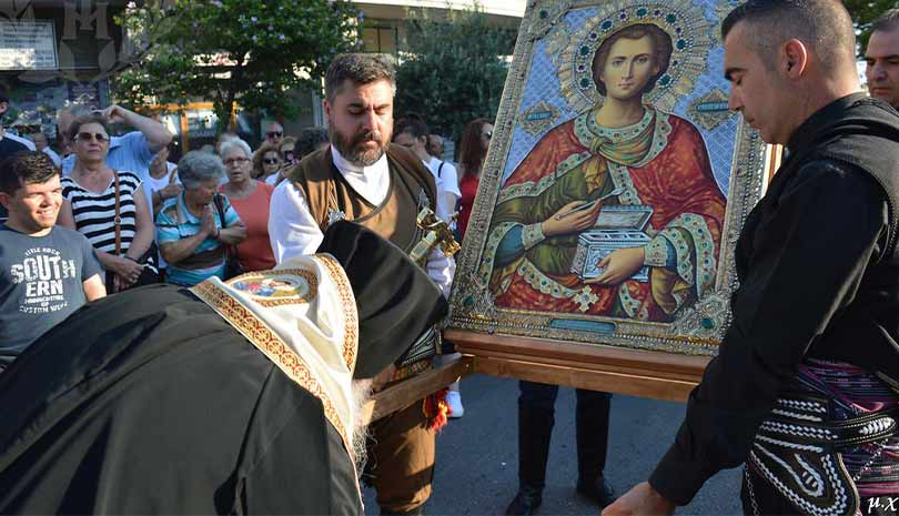 Υποδοχή Εικόνας και Αρχιερατικός Εσπερινός στον Ιερό Ναό Αγίου Παντελεήμονος Πολίχνης