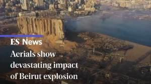 Βηρυτός : Εικόνες αποκάλυψης - Βίντεο από drone
