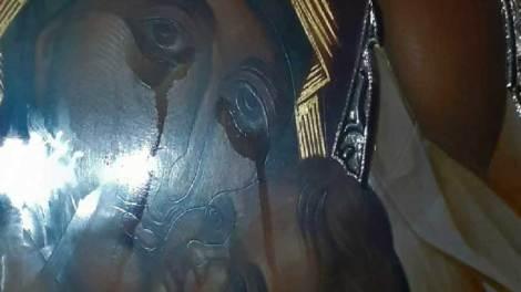 Άγιος Δημήτριος Βύρωνα: Δάκρυσε η εικόνα της Παναγίας