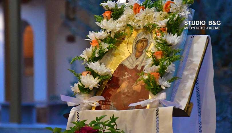 Η εορτή της Αγίας Ευφημίας στη Νέα Τίρυνθα Αργολίδας