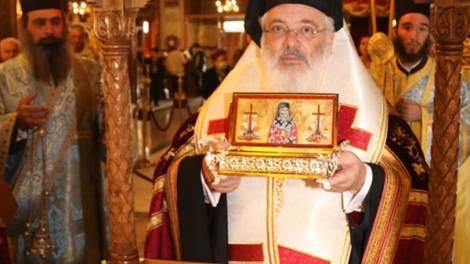 Υποδοχή αποτμήματος των ιερών λειψάνων του Αγίου Νεκταρίου