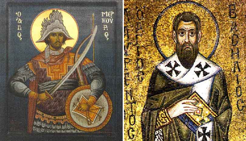 Ο Άγιος Μερκούριος φονεύει τον ασεβή Ιουλιανό τον Παραβάτη