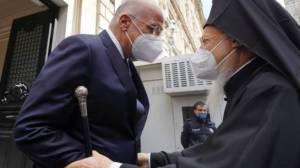 Με τον Οικουμενικό Πατριάρχη Βαρθολομαίο είχε συνάντηση ο Νίκος Δένδιας