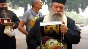 Επέστρεψαν οι Μοναχοί στη Μονή του Οσίου Δαυίδ - Συγκίνηση για το θαύμα της σωτηρίας της Μονής από τη φωτιά στην Εύβοια