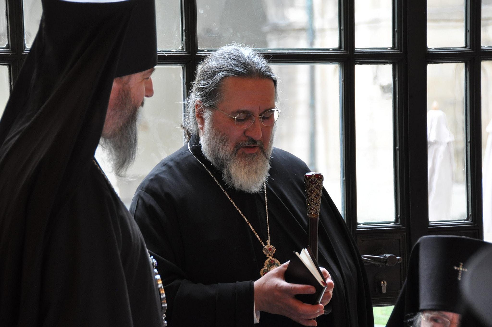 Mgr Alexandre pendant le repas festif qui a suivi les cérémonies du dimanche 20 janvier 2019 (© 2019 Alex Romash).