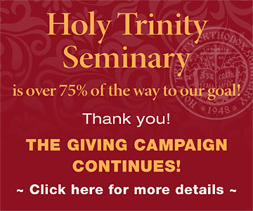 Banner: Holy Trinity Seminary is over 75% of the way to our goal!