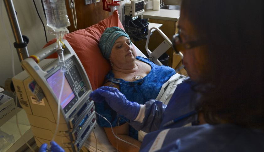 Patient Receiveing Chemotherapy Treatment