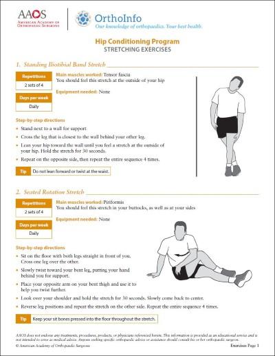 hip rehabilitation exercises orthoinfo