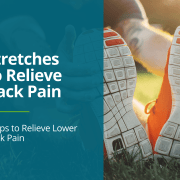 Man stretches using both hands and legs to provide relief for hamstring soreness and tightness.