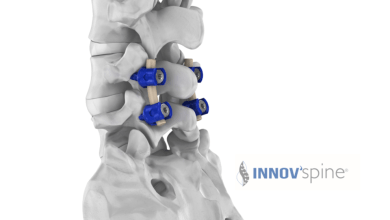 Photo of Innov'spine's CE mark for spinal rods from Invibio´s PEEK-OPTIMA polymer