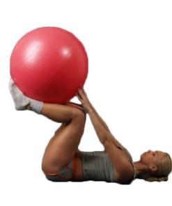 Мяч гимнастический красный с ABS L 0765 b, диаметр 65 см