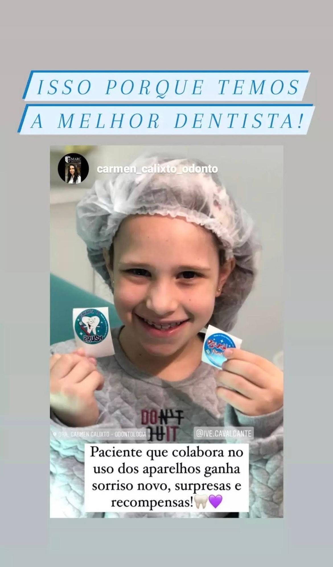 Dentista e crianças