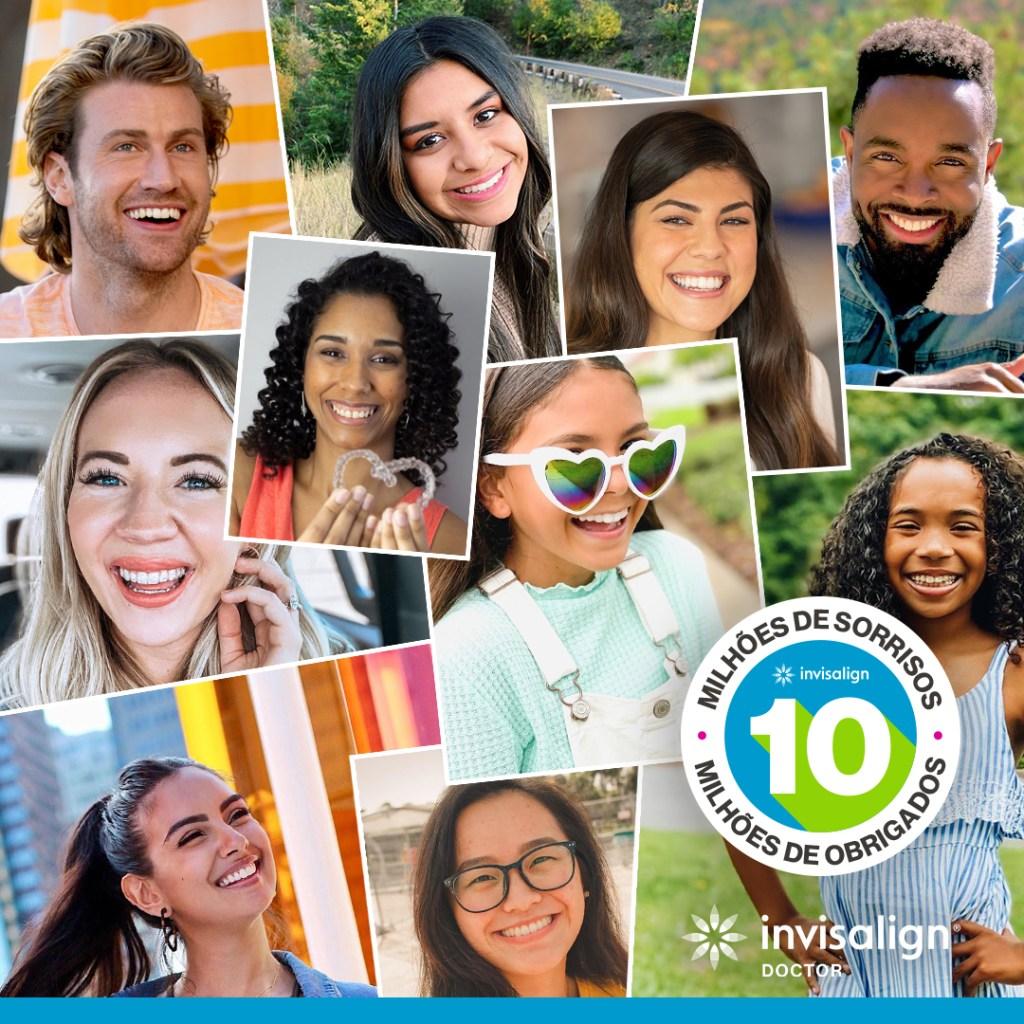 10 milhões de novos sorrisos com ortodontia invisalign