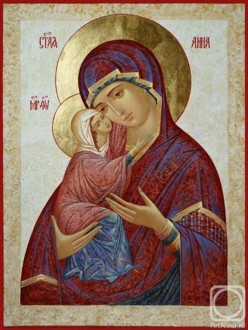 Sfanta Ana cu Sfanta Fecioara Maria
