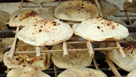pane arabo appena sfornato