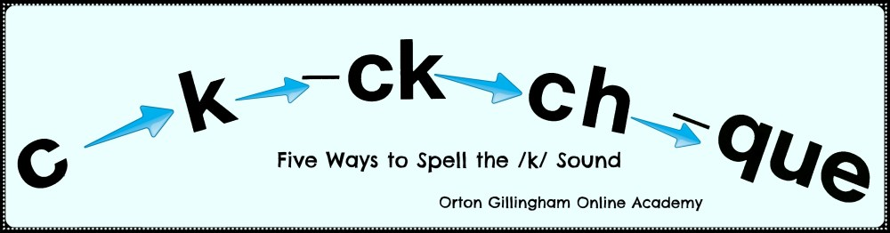 medium resolution of Five Spellings for the /k/ Sound   Orton Gillingham Online Academy