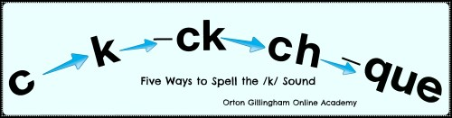 small resolution of Five Spellings for the /k/ Sound   Orton Gillingham Online Academy