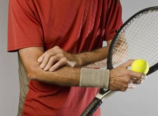 40 a 50 % dos tenistas sofrerão de dor no cotovelo decorrentes da epicondilite lateral