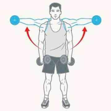 Exercício de elevação lateral de ombro