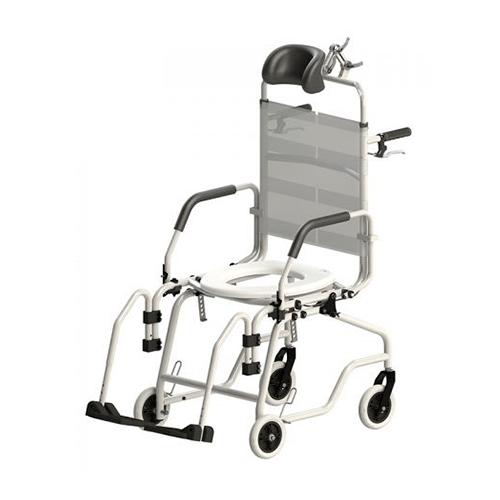Cadeira de Banho Alumínio reclinável Jaguaribe - Ortopedia Online SP