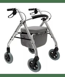 Andador com assento 2011 SL 500 - Práxis - 04 rodas - Ortopedia Online SP