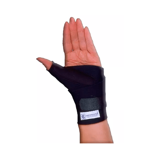 Munhequeira apoio PVC polegar esquerdo / direito - Ortopedia Online SP