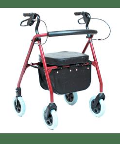 Andador em alumínio com assento estofado Práxis - Ortopedia Online SP