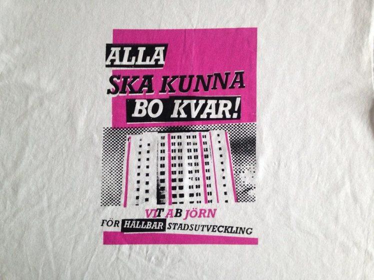 Demonstration utanför hyresnämnden i Göteborg på torsdag.