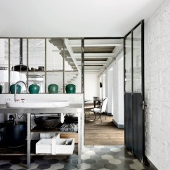 Cement Tile Kitchen Average Price For New Cabinets A Floor The Door Is Ajar Interior Tiles Paola Navone 2