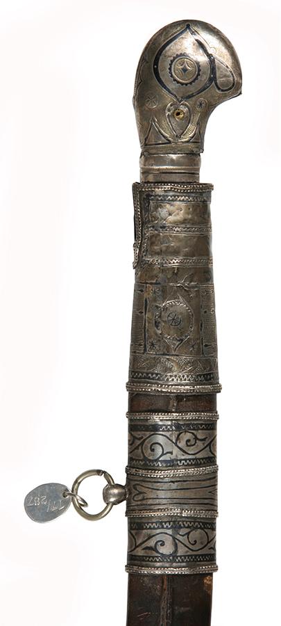 Detalj balčaka šaške iz zbirke Vojnog muzeja u Beogradu, inv br. 12223