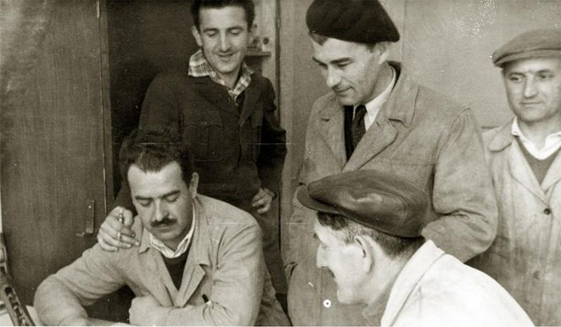 Konstruktorska grupa kragujevačkog ''Preduzeća Crvena Zastava'' zadužena za razradu PM M-57, 1952 godina