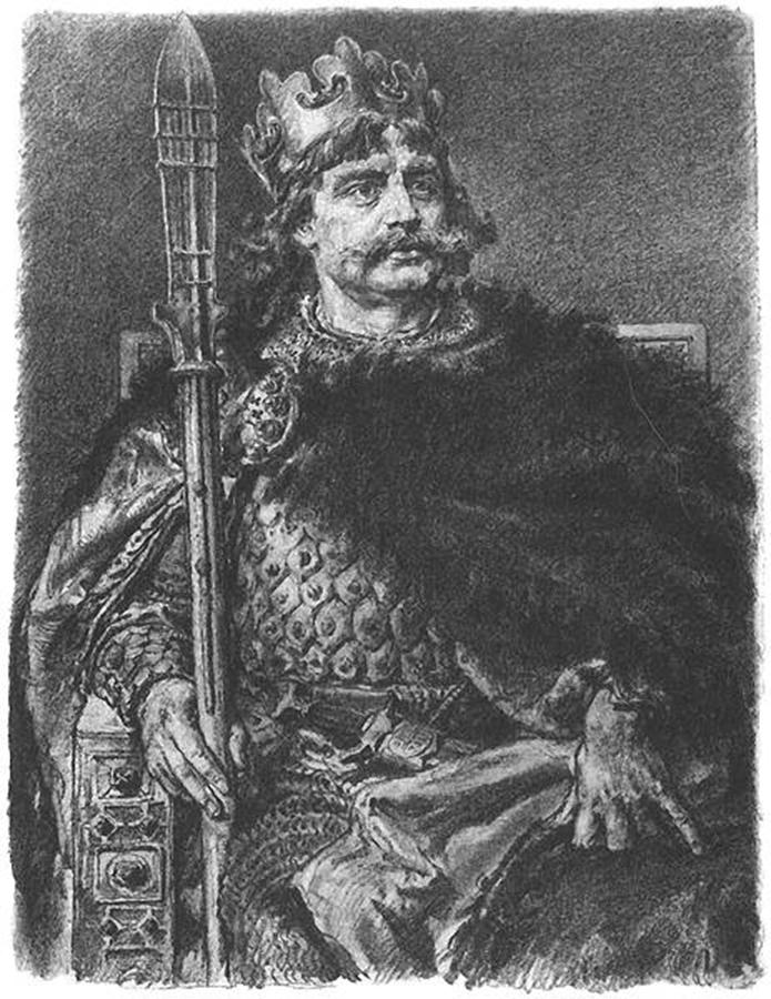 Portret Boleslava Hrabrog sa kopijom svetog koplja