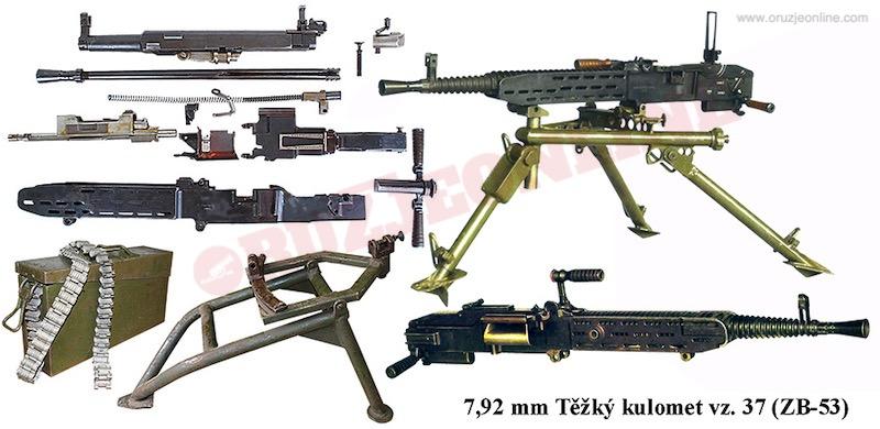 Teški mitraljez Zbrojovka7-9 mm M1937 (vz.37, ZB-53)