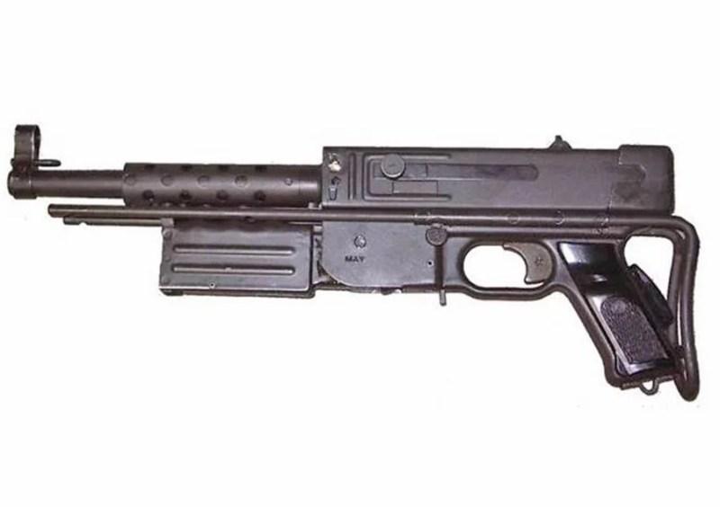 MAT-49 sa sklopljenim okvirom