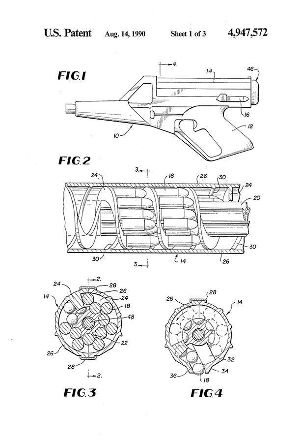 Patentni list za helikoidni okvir, calico