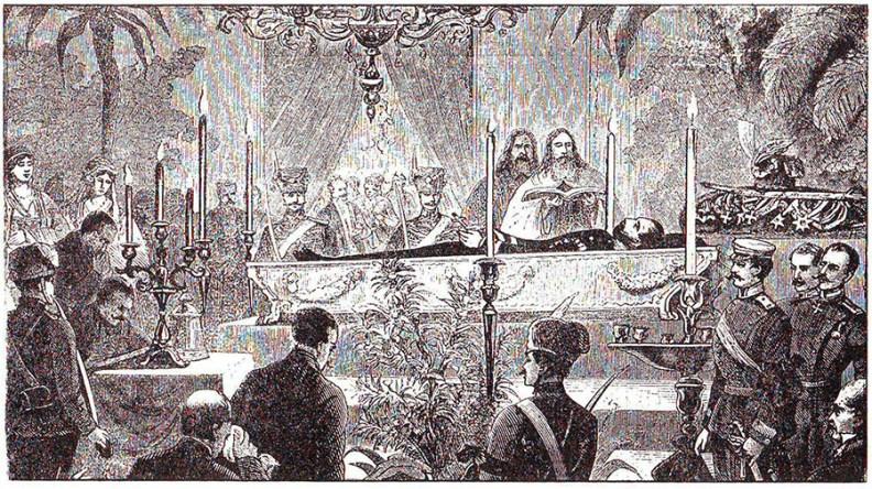 Knez Mihailo na odru. Prema Feliksu Kanicu