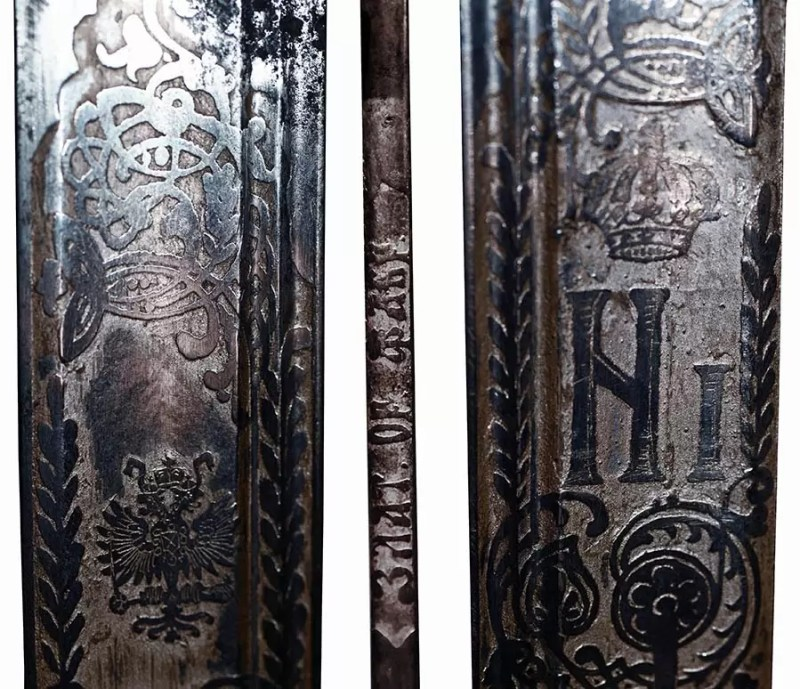 Detalji sečiva sablje M1910.