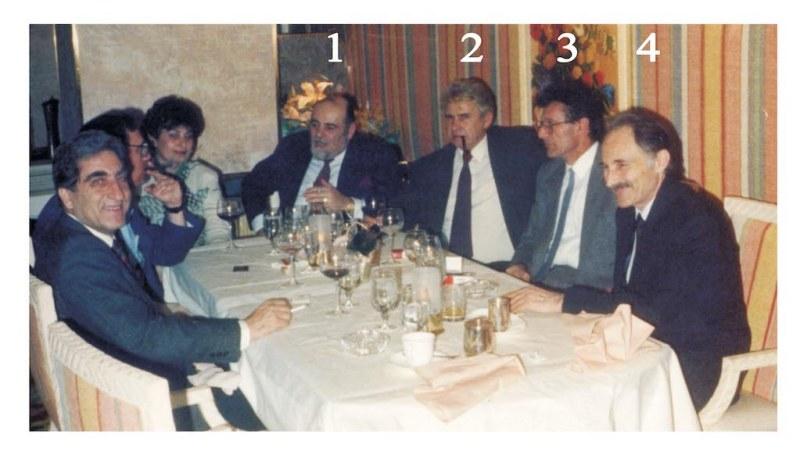 Sajam u Las Vegasu 1991: 1. Sarkis Soganalijan (Sarkis Garabet Soghanalian, 1929-2011); 2. Božidar Blagojević; 3. Stevo Basarić; 4. Rodolјub Matković